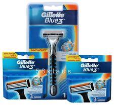 Gillette Blue3 Rasierer + 6 Klingen (2x 3) als Set 1 + 6 = 7x auch Sensor Excel