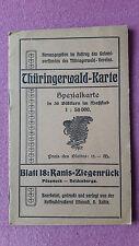 Thüringerwald-Karte, Blatt 18 Ranis-Ziegenrück, Spezialkarte 1:50000, ca. 1910