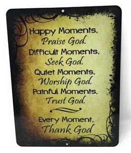 """Happy Difficult Quiet Painful Every MOMENTS Inspirational Amazing 9"""" x12"""" Sign"""