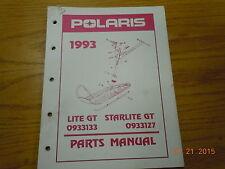 POLARIS 1993 LITE AND STARLITE GT PARTS MANUAL 0933133, 0933127