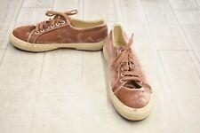 **Superga 2750 Velvet Sneaker - Unisex Size M(7), W(8.5) - Blush