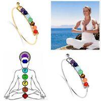 Women New Gift Hot Healing Balance Beads Yoga Bracelet Jewelry 7 Chakra