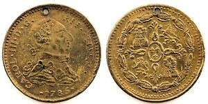 Spain-Carlos III. Ficha de epoca. 1785. Laton 7,6 g.