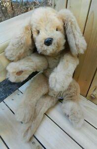 """Vintage 1985 Gund Muttsy Tan/Brown Golden Retriever Dog Plush 14"""""""
