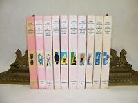 Lot de 10 livres SÉRIE MYSTERES D'ENID BLYTON Bibliotheque rose années 60's/80's