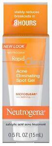 Neutrogena Rapid Clear Acne Eliminating Spot Gel 0.50 oz - YOUR CHOICE