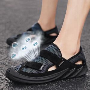 Men Sandals Outdoor Fashion Beach Shoes Summer Rubber Breathable Plain Sneakers