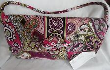 Vera Bradley Very Berry Paisley Knot Just a Clutch Shoulder Bag 11115-063