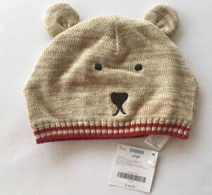 NWT Gymboree Alaskan Adventure 2T-5T Tan Heather Bear Sweater Hat with Ears