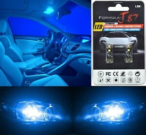 Canbus Error LED Light 168 Blue 10000K Two Bulbs License Plate Tag Upgrade OE