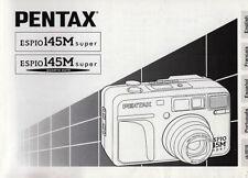 Pentax Bedienungsanleitung für Pentax Espio 145M Super - Anleitung
