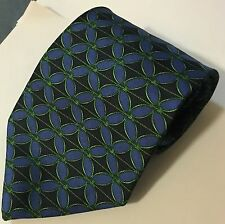 "Fumagalli's Silk Blue & Green Handmade in Spain Men's Neck Tie 57"" L 4"" W"