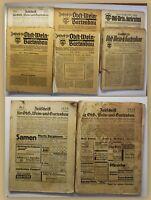 Konvolut Obst-/ Wein- & Gartenbau 8 Bände um 1930/40 Zeitschrift Natur Wissen sf