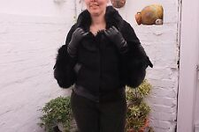 Real Fox Fur Lambskin Leather Jacket..by ACASTA..size 12-14 UK..