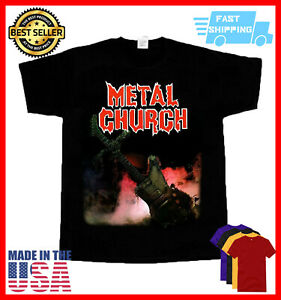 Metal Church T Shirt Overkill shirt Vintage Unisex Black Size S-5XL