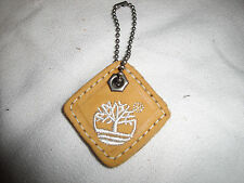 Timberland Keychain Square Leather Wheat & White Embroidery Small
