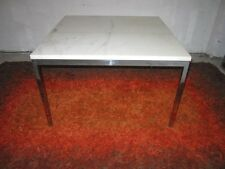 FABULOUS FLORENCE KNOLL HEAVY CHROME AND MARBLE COFFEE TABLE MID-CENTURY