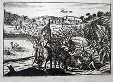 1476 Battaglia di Murten confederati SVIZZERA ORIGINALE-rame chiave 1694