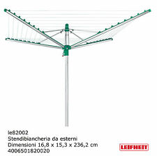 Leifheit Linomatic 600 de lujo tendedero tendedero a paraguas de exterior