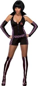 Trixie Speed Racer Race Car Driver Black Dress Up Halloween Sexy Adult Costume