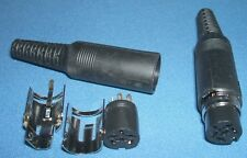 Pack of TWO 6Pin DIN inline sockets (Female 6 Pin in-line socket)