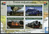 Madagascar Trains Stamps 2019 CTO South African Railways Rail 4v M/S