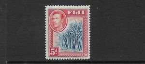 FIJI - 1938 - GVI - 5d BLUE & SCARLET - MM - SG 258 - CAT £42