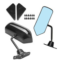 Universal F1 Style Rear View Racing Car Side Mirror Convex Glass Cafe Retro ×2