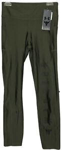 Under Armour Womens Project Rock HeatGear Print Ankle Crop Green Size Small Read