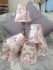 Handmade Candle Clip Shades in Laura Ashleys Ironwork Scroll Colour Range Fabric