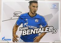 Nabil Bentaleb + Autogrammkarte 2017/2018 + FC Schalke 04 + AK201870 +