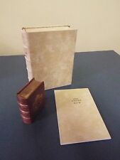 16th  Century Miniature Book of Hours - Facsimile - Full Leather with Slipcase