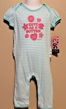 "GIRLS 3/6 months romper Paul Frank LUXE ""Cute as a button"" 1-piece bodysuit NWT"