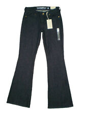 Guess Flare Leg Slim Fit Mid Rise Stretch Denim Jeans Pants, Rinse Wash New $89