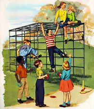 Vintage 50's School Monkey Bars 14 x 11 Photo Print