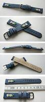 Echtleder Edelweißuhrband 18 mm blau für zum Beispiel Jordi u andere Trachtenuhr
