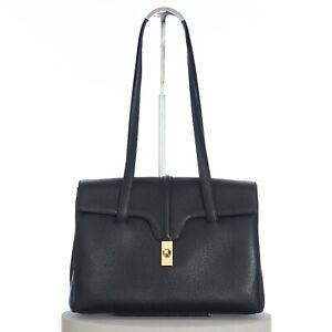 CELINE 2600$ Medium Soft 16 Bag In Black Supple Grained Calfskin
