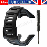 Black Rubber Watch Strap Band For SUUNTO AMBIT2 S RED/AMBIT3 SPORT  UK