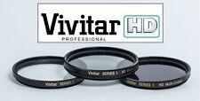 Hi Definition 62mm Polarizer (PL) UV & ND-8 Filter Set For Panasonic DC-GH5