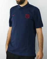 Barcelona Nike Polo Shirt Navy 2019 20 cotton Sportswear piquet