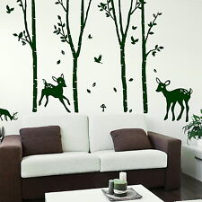 Tree Wall Stickers! Giant Home Transfer Graphics / Forest Decal Decor Stencils