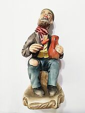 Vintage Old Man Pottery Painter Figurine Made in Portugal