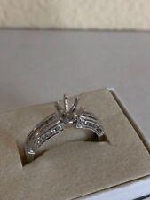 18K White Gold Semi Mount Setting Engagement Wedding Ring .40 ct round diamond