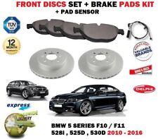 pour BMW 528 525d 530d F10 F11 2010- > DISQUES DE FREIN AVANT + SET PLAQUETTES +