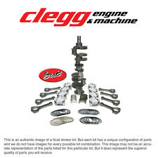 """CHEVY 350-383 SCAT STROKER KIT, 2PC RS, Forged(Dish)Pist., I-Beam 5.7"""" Rods"""