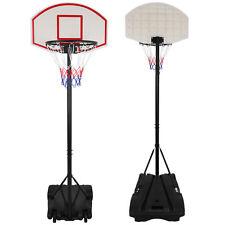 28'' x 18'' Backboard Adjustable Height Basketball Hoop Outdoor Stand
