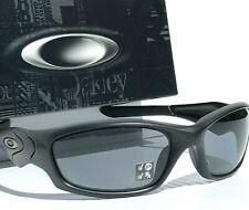 NEW* Oakley STRAIGHT JACKET Matte BLACK POLARIZED Grey Lens Sunglass 9039
