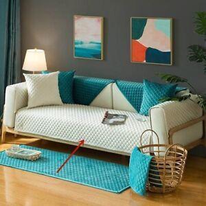 Soft Velvet Sofa Cover Sofa Slipcover Room Decor Corner Sofa Towel Couch Cover