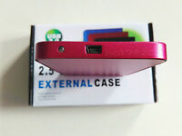 "New 160 GB external Portable 2.5"" USB 2.0 hard Drive HDD POCKET SIZE RED"