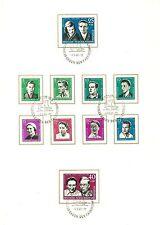 Briefmarken der DDR (1960-1970) mit Politiker-Motiv